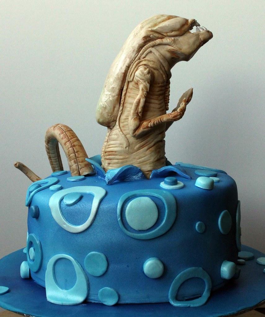 Agree, this alien chestburster cake