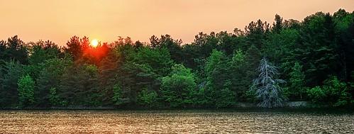 park trees sky sun lake color nature water sunrise outdoors pond buffalo cabin earlymorning peach hike trail rise eriecounty commissioners chestnutridge buffaloniagara