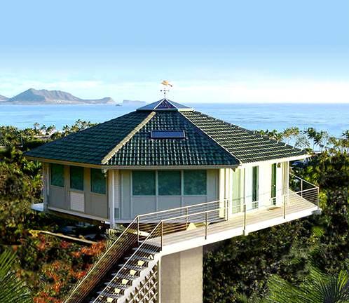 Hawaiian Mountain-side Prefab Pedestal Home by Topsider Ho… | Flickr