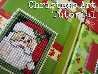 Christmas Art Tutorial | by Sarah.WV