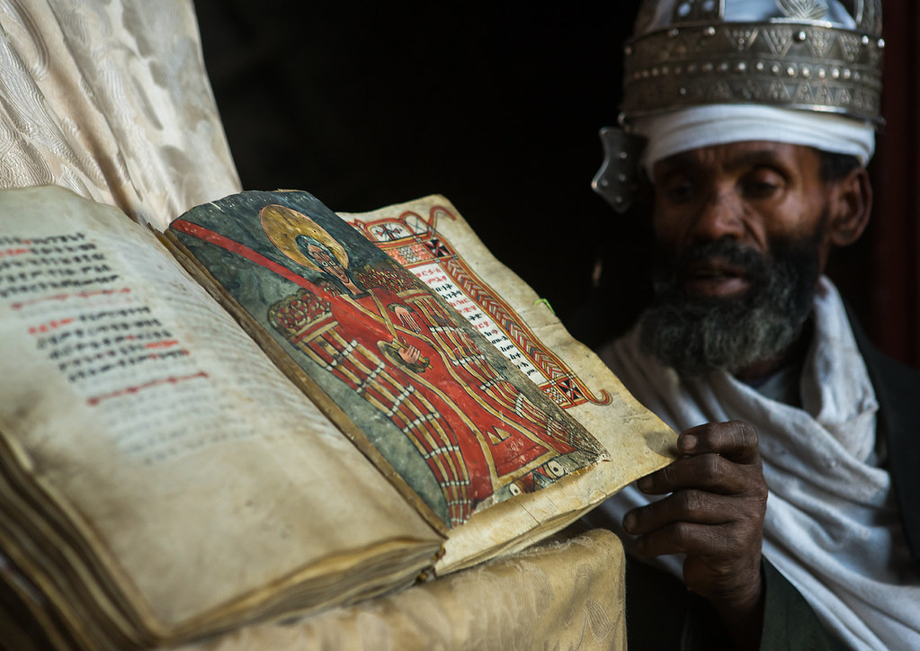 Ethiopian orthodox priest with an old bible in nakuto lab … | Flickr