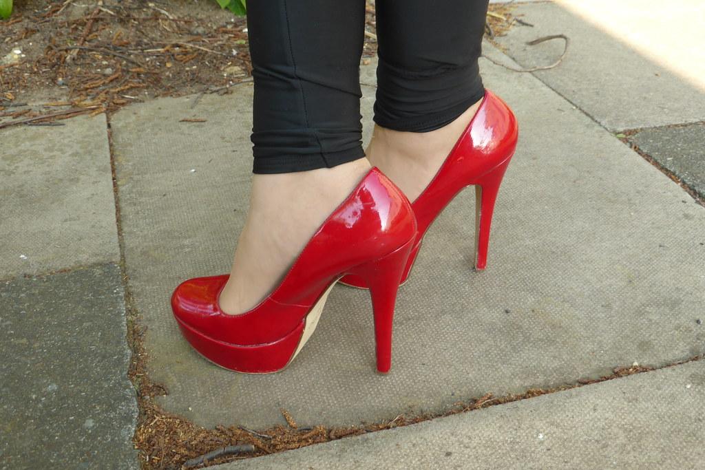 d3fd8f8ae3c Aldo (Capecoral) Dark Red Platform Stiletto Shoes. | Flickr