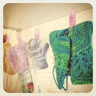 18:Something Made #photoadaymay knitted Blythe cardigans that still need the ends woven in. | by SewPixie