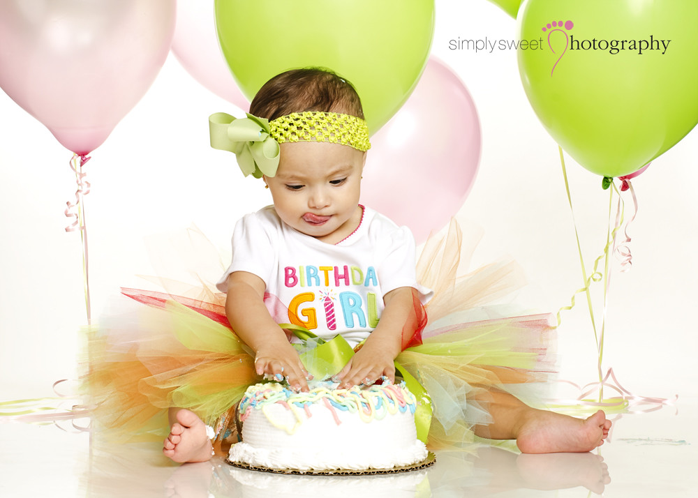 Orlando Florida 1st Birthday Smash Cake Photographer