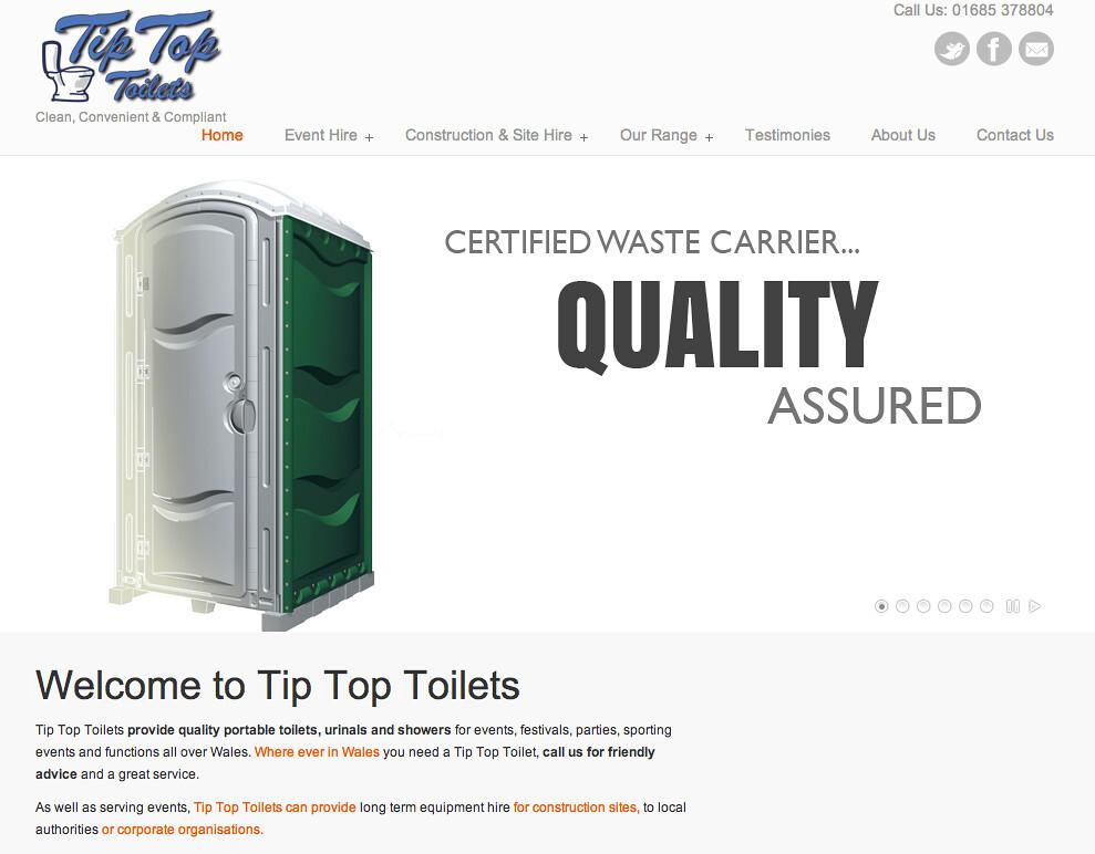 Tip Top 1 - Website Design and Build