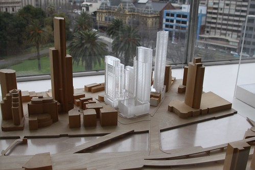 Architectural model of Melbourne's Freshwater Place development