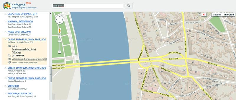 Karta Beograda Ulice Beograd Www Infograd Rs Infograd Flickr