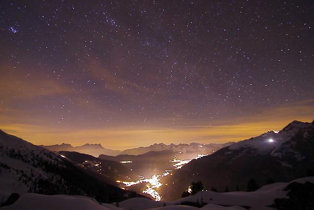 Val de Bagnes by night.