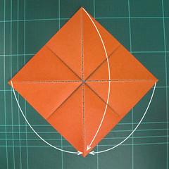 วิธีพับกระดาษเป็นรูปนกยูง (Origami Peacock - ピーコックの折り紙) 005