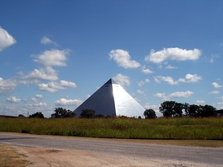 An Alien Pyramid in a Field