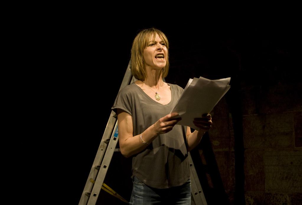 Kate Dickie in White Rabbit Red Rabbit | Kate Dickie perform… | Flickr