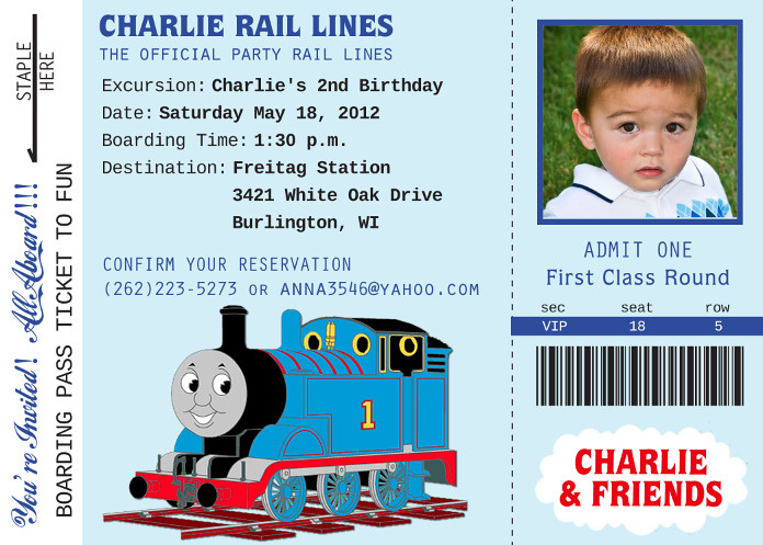 Thomas Train Custom Birthday Invitation Printable Birthda Flickr