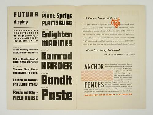 1930's Futura Specimen Booklet | by Herb Lubalin Study Center