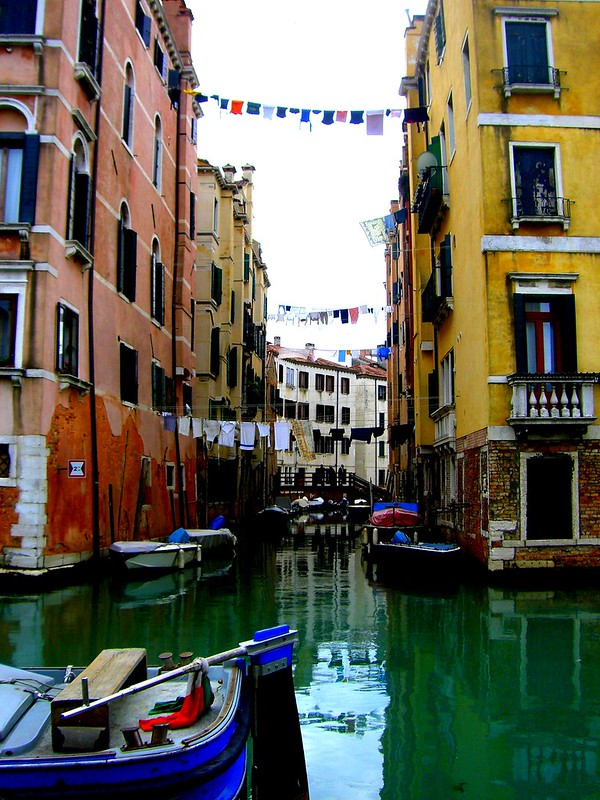 Gondel fahren in Venedig