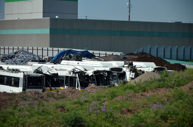 Scrap HSR buses @ Burlington Scrap Yard