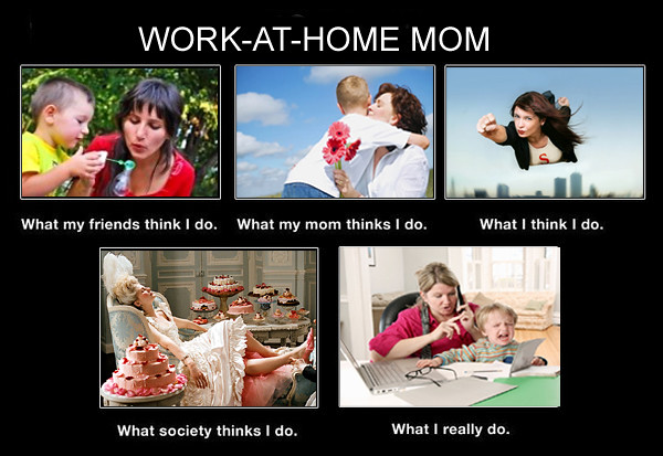 Work-at-Home Mom Meme