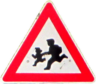 """Warning Sign """"Children"""" in Balchik (AP4L2842 1PSP"""