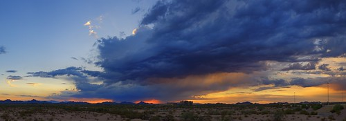 sunset arizona sky panorama storm phoenix rain clouds outdoor dusk
