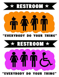 Gender Neutral Bathroom Sign Baby Wale Restaurant DC | by tedeytan