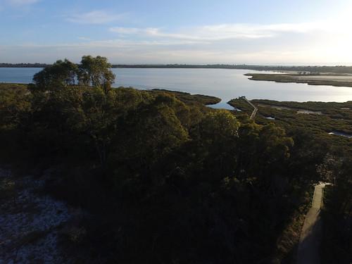 morning sunrise earlymorning australia aerial westernaustralia mandurah drone