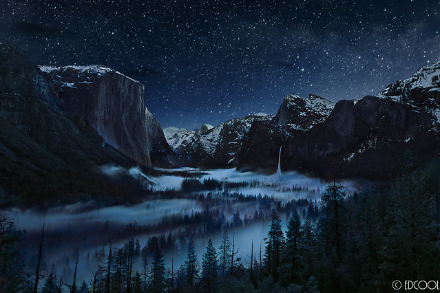 Foggy Valley Night