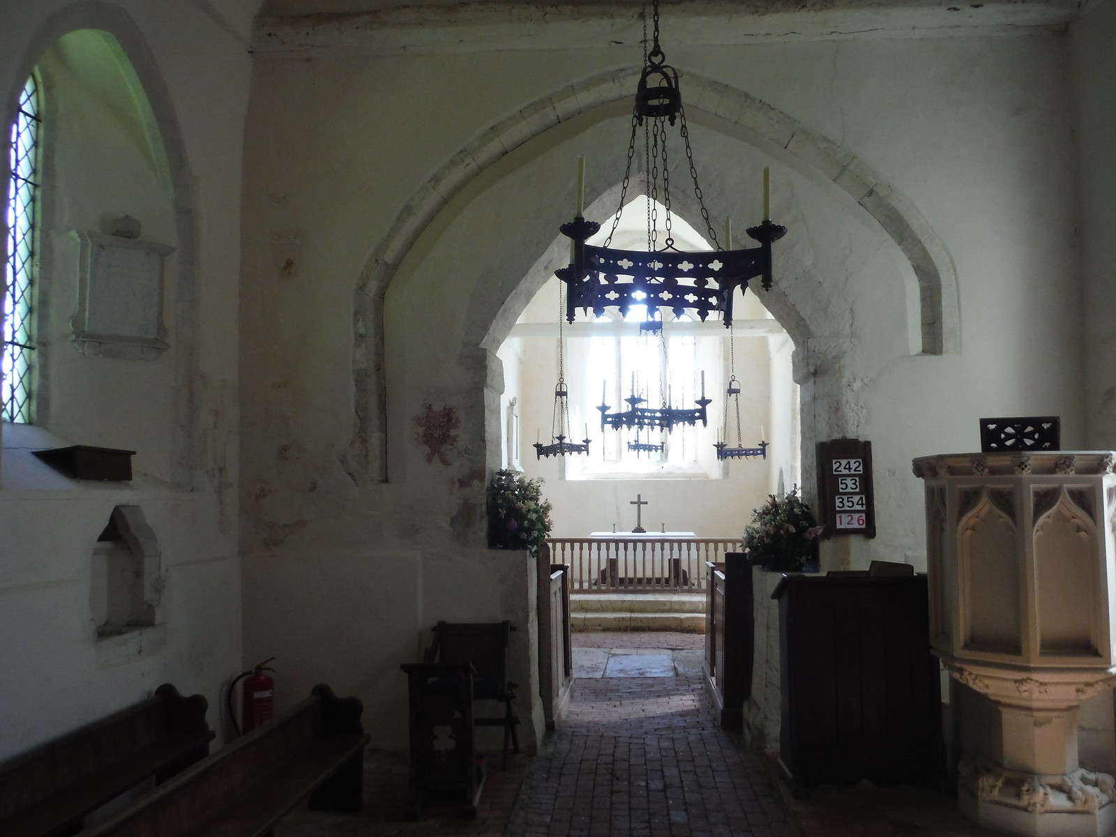 Interior of St. Michael and All Angels, Up Marden SWC Walk Rowlands Castle Circular