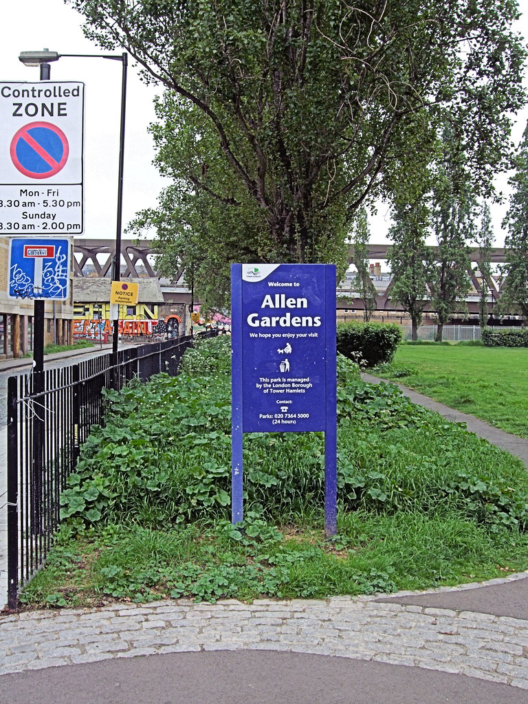 Shoreditch Gardens: Allen Gardens, Shoreditch - London.