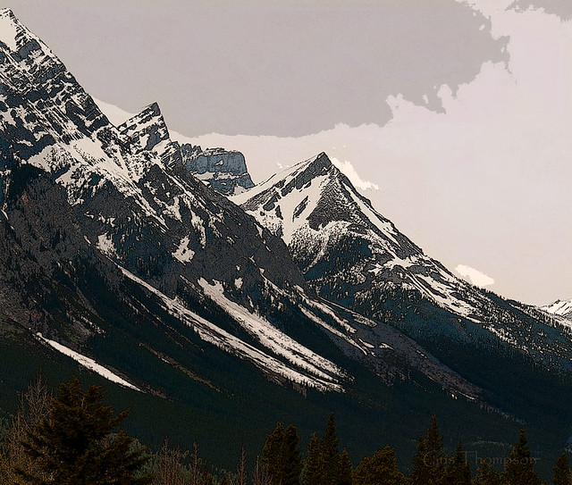 Rocky Mountains Near Banff Park