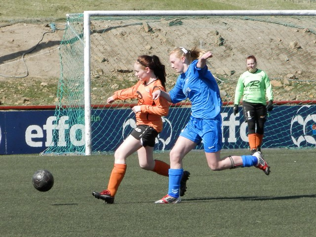 Katja Poulsen, FC Suðuroy vs. Skála, Faroese football (Soccer) 2012