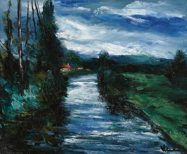 [ V ] Maurice de Vlaminck - Bord de la rivière