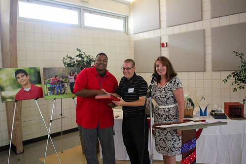 David July (center) accepting the Child Advocates II Board Member of the Year Award from Brian Williams and Deborah Moore at Guardian ad Litem Appreciation Day on May 12, 2012 in Tallahassee, Florida. | by flguardian2