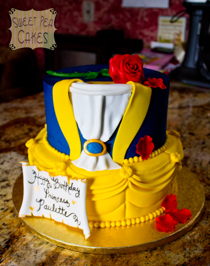 Awesome Beauty And The Beast Birthday Cake A Photo On Flickriver Funny Birthday Cards Online Elaedamsfinfo