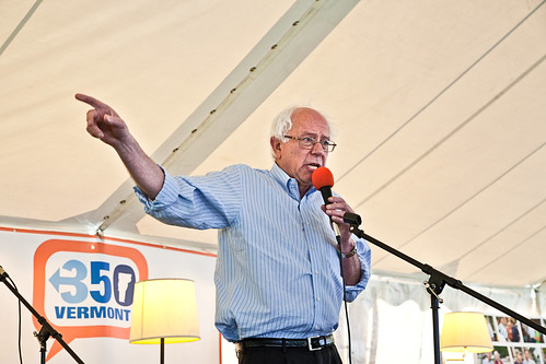 Senator Bernie Sanders Connecting the Dots in Waitsfield, VT with 350 Vermont & Friends | by 350VT