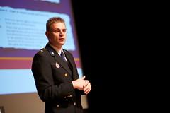 Pim Takkenberg (KLPD) bij het Nationaal Privacy Debat