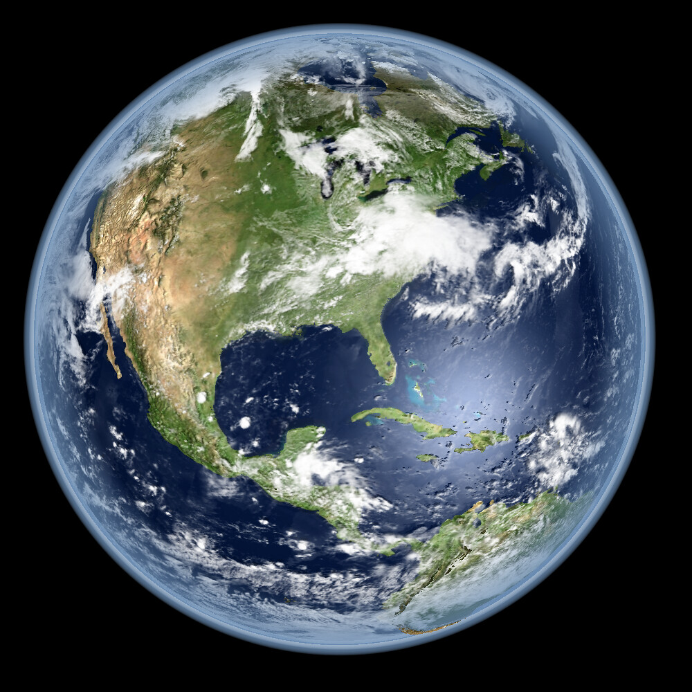 Earth - Global Elevation Model with Satellite Imagery (Version 4)