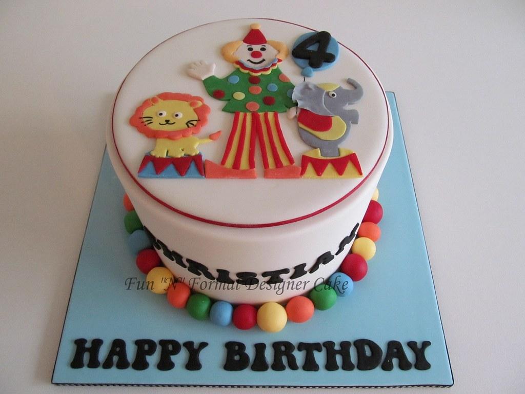 Excellent Circus Themed Birthday Cake Melissa Woodward Flickr Funny Birthday Cards Online Elaedamsfinfo