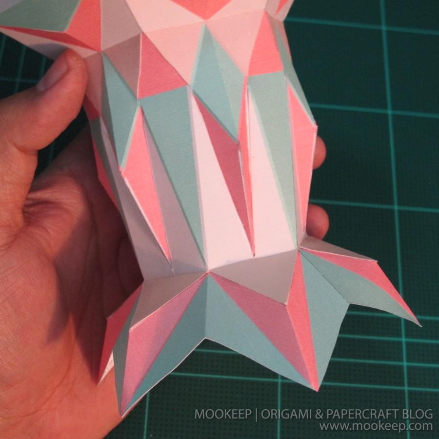 สอนทำโมเดลกระดาษเป้นรูปแจกันโบราณ (Papercraft Model Flower Vase) 020