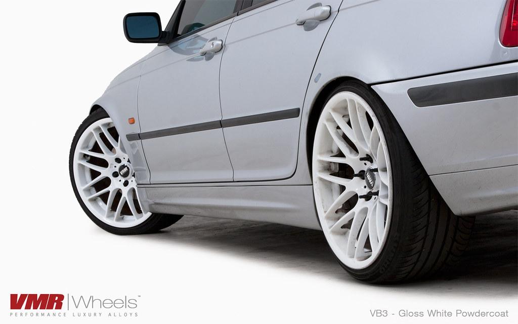 Vmr Wheels 19 Custom Gloss White Powdercoated Vb3 On Ti Flickr