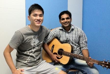 1 to 1 guitar lessons Singapore Samarth