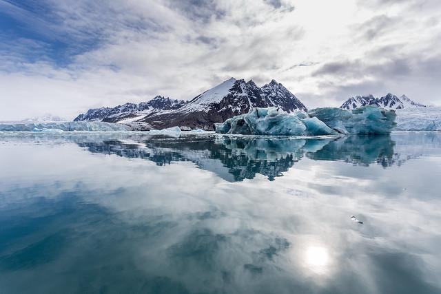 Arctic Reflections in Monacobreen ©2016 Lauri Novak Photography