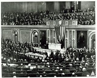 President Wilson Seeks War on Germany