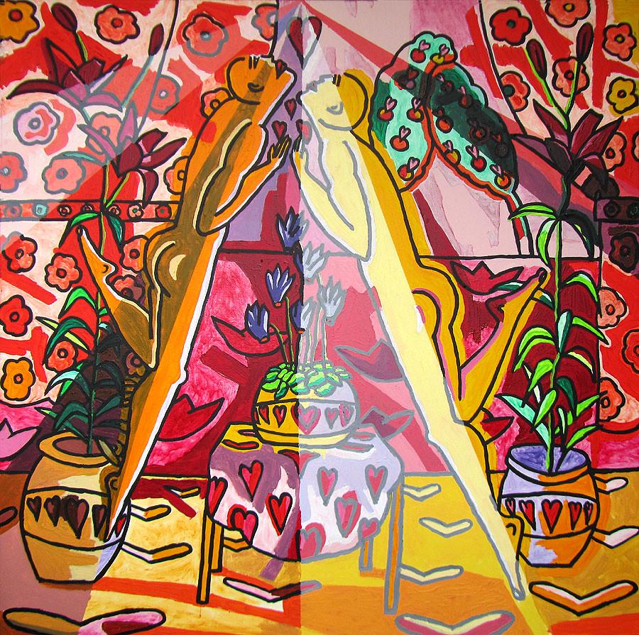 ... couple kissing lovers pair enoye from life happey pair kiss emotion love hugs painting paintings -