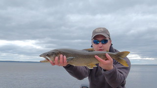 Andrew's first Lake Trout on the fly! | by Maine River Guides