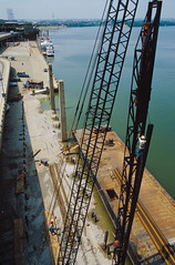 87h021: Driving piles for wharf extension
