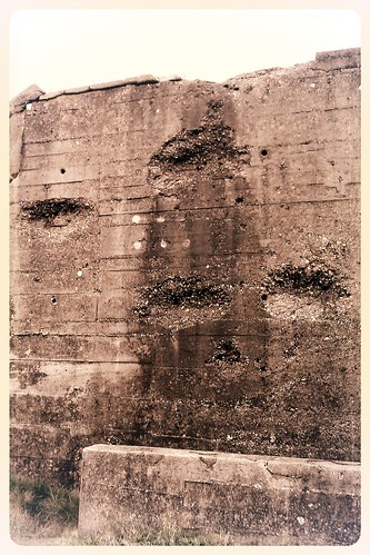 Battle Damage on a Utah Beach Bunker