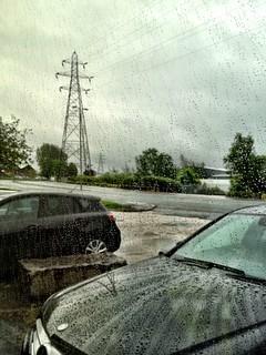 Rainy day .