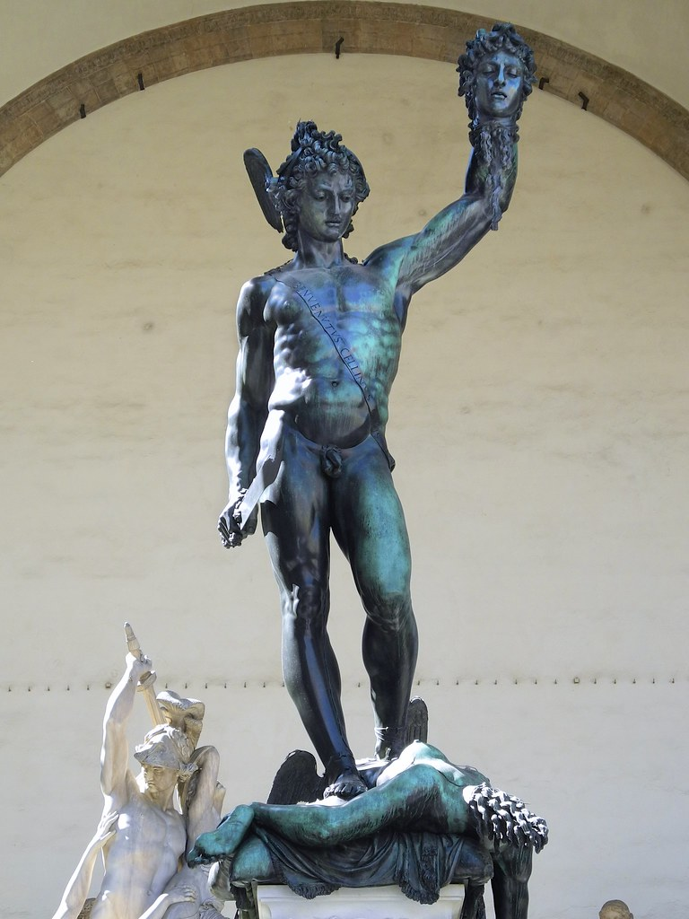 Perseus With The Head Of Medusa By Benvenuto Cellini Logg