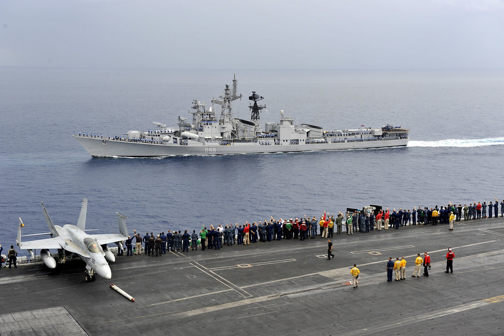 Sailors salute Indian navy ships. | INDIAN OCEAN (April 16, … | Flickr