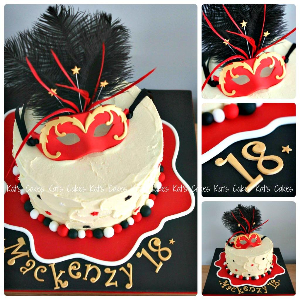 Terrific Mackenzys 18Th Birthday Masquerade Cake Cake Chocolate M Flickr Birthday Cards Printable Nowaargucafe Filternl