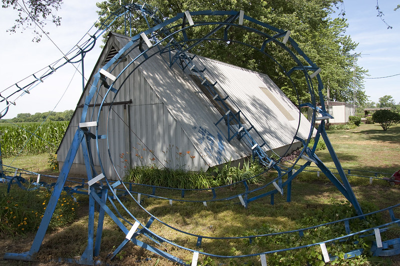 Blue Flash backyard roller coaster